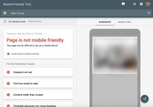 test your site for responsive website design in Google's responsive testing tool