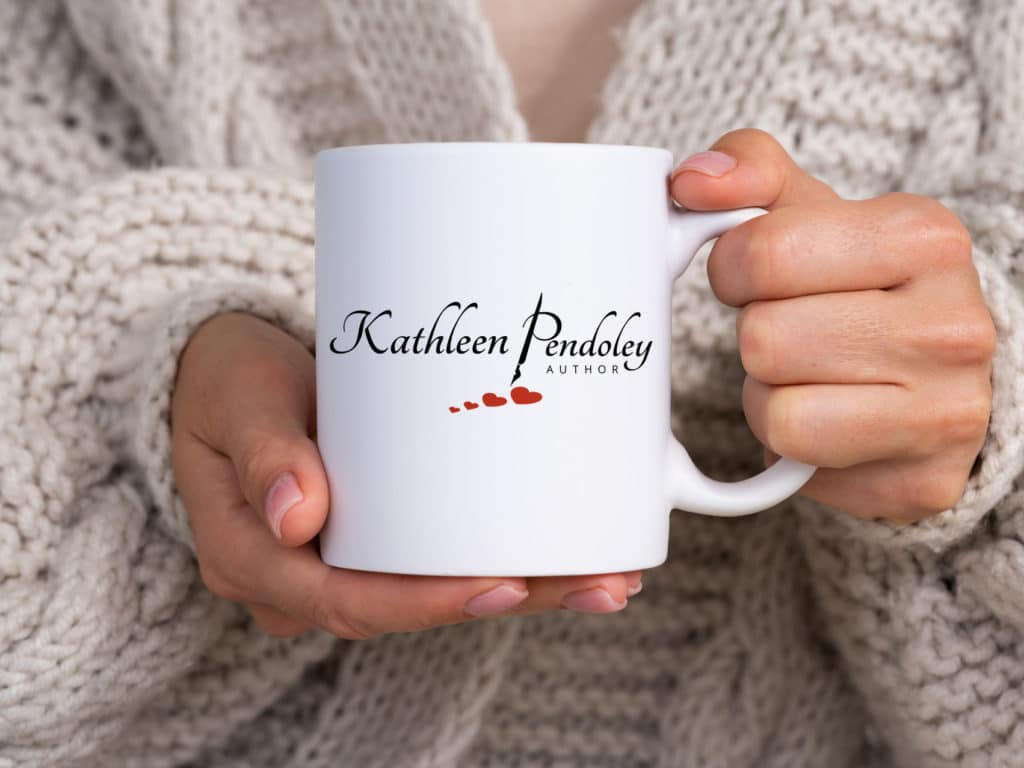 Fat Cat Design logo design for Author Kathleen Pendoley