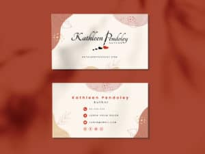 Author Kathleen Pendoley logo design and business cards