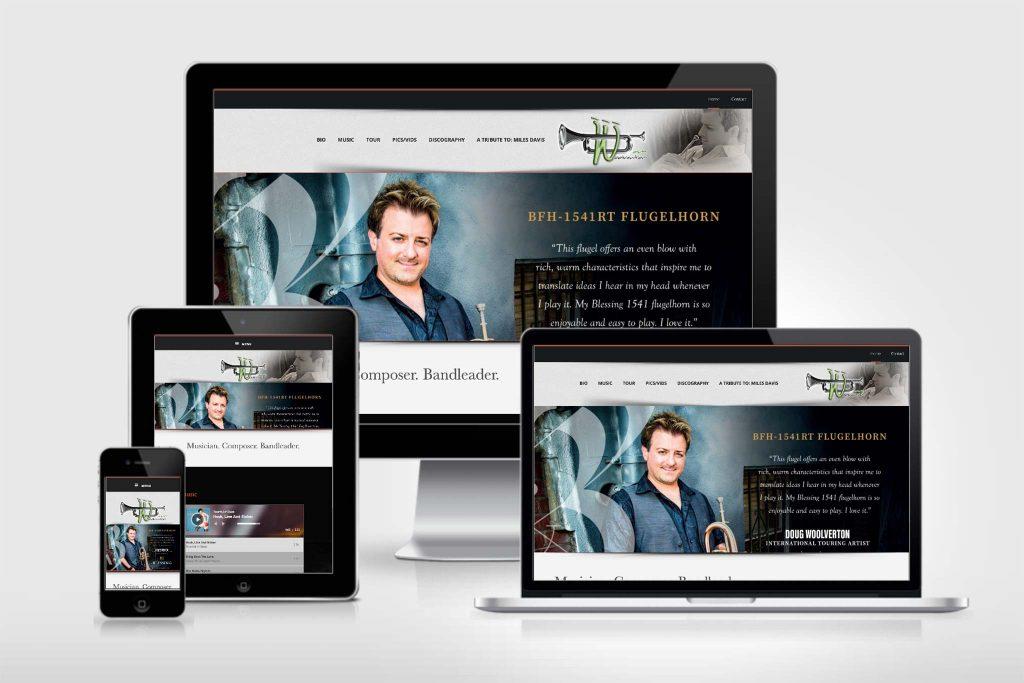 website for Doug Woolverton - musician, composer, bandleader