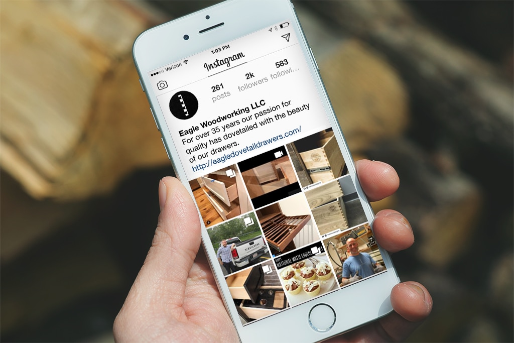 Eagle Woodworking Social Media Marketing Campaign: Instagram