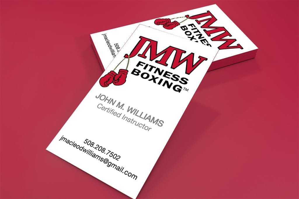 logo and business cards for boxing instructor
