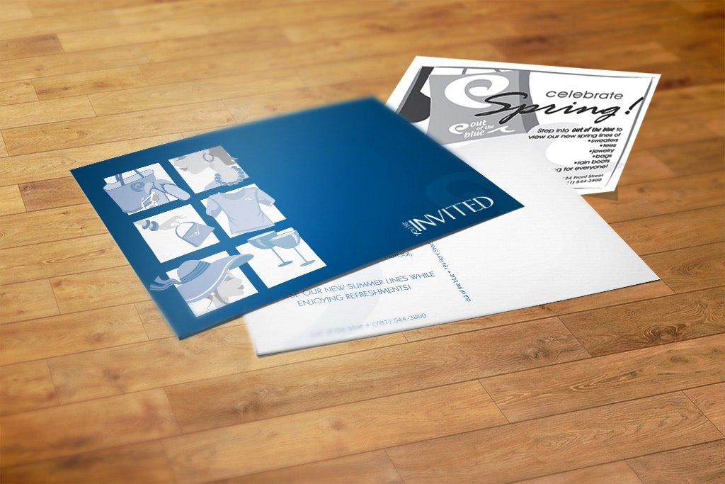 postcard and advertising campaign for retail boutique