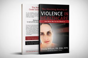 paperback cover design for The Shocking Reality of Healthcare Violence